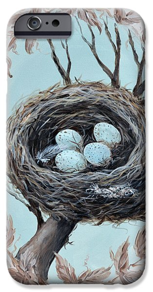 Close Pastels iPhone Cases - The Nest iPhone Case by Sherry Yaeger