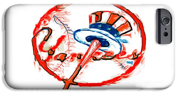 Red Sox Mixed Media iPhone Cases - The New York Yankees iPhone Case by Brian Reaves