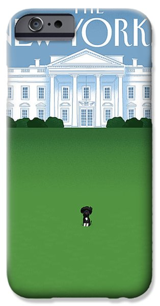 President Obama Photographs iPhone Cases - The New Yorker Cover - April 27th, 2009 iPhone Case by Conde Nast