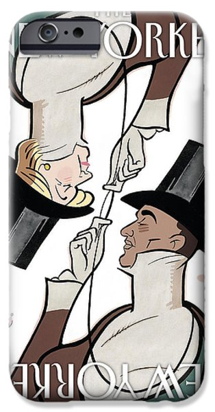 Barack Obama iPhone Cases - The New Yorker Cover - February 11th, 2008 iPhone Case by Conde Nast