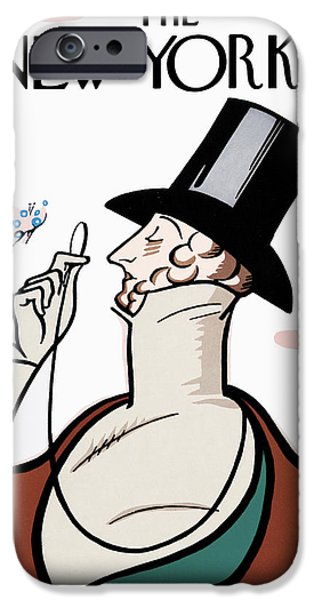 Irvin iPhone Cases - The New Yorker Cover - February 21st, 1925 iPhone Case by Conde Nast