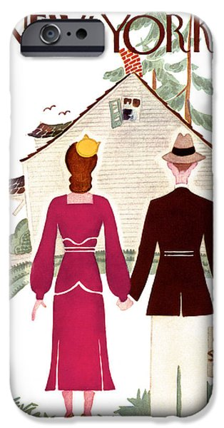 Irvin iPhone Cases - The New Yorker Cover - June 24th, 1933 iPhone Case by Conde Nast