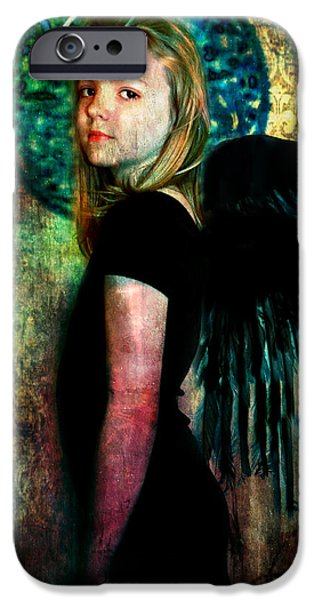 Night Angel iPhone Cases - The Night Angel iPhone Case by Perennial Dreams Studios