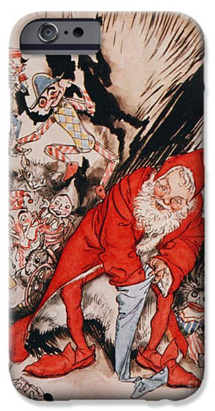 Christmas Eve iPhone Cases - The Night Before Christmas iPhone Case by Arthur Rackham