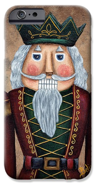 Christmas Ceramics iPhone Cases - The Nutcracker iPhone Case by Belinda Buckler