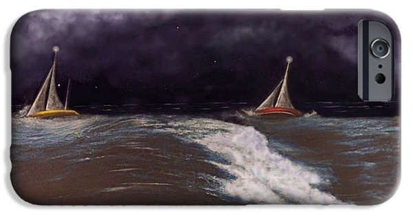 Racing iPhone Cases - The Ocean Yacht Race iPhone Case by G Jay Jacobs