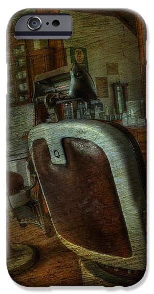 The Old Barbershop - vintage - nostalgia iPhone Case by Lee Dos Santos