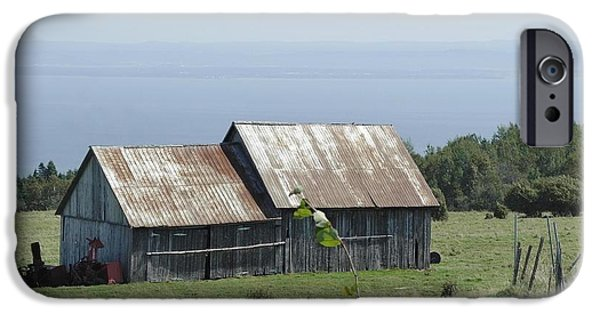 Old Barns iPhone Cases - The Old Barn 2 iPhone Case by Claude Prud