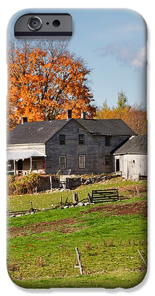 The Old Farm in Autumn iPhone Case by Louise Heusinkveld