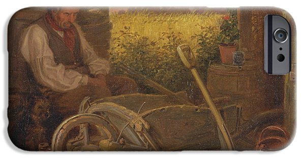 Old Pitcher Paintings iPhone Cases - The Old Gardener iPhone Case by Briton Riviere