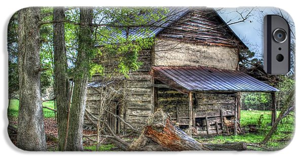 Haunted House iPhone Cases - The Old Home in the Hills iPhone Case by Dan Stone
