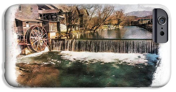 Grist Mill iPhone Cases - The Old Mill iPhone Case by Ches Black