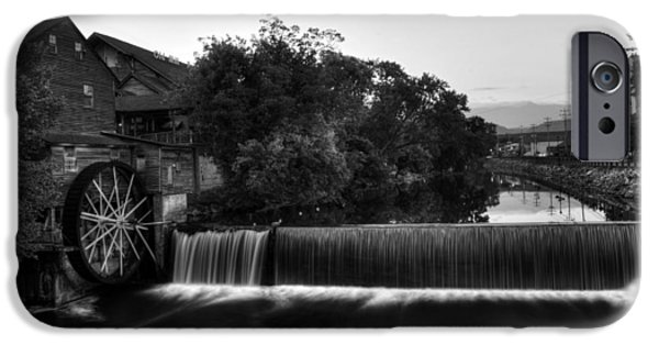 Morning iPhone Cases - The Old Mill in Black and White iPhone Case by Greg Mimbs
