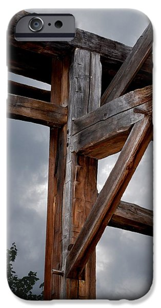 Old Barns iPhone Cases - The Old Playhouse iPhone Case by Carol Deltoro