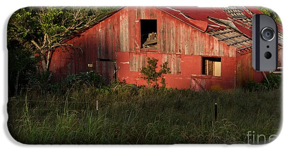 Old Barn iPhone Cases - The Old Red Barn iPhone Case by Gary Richards