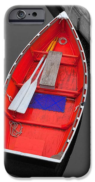 Chatham iPhone Cases - The old red Lobster boat  iPhone Case by Emmanuel Panagiotakis