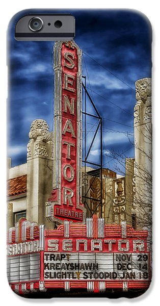 Chico iPhone Cases - The Old Senator Theatre iPhone Case by Mountain Dreams