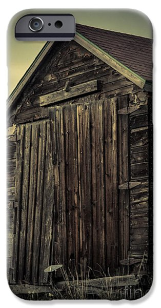 Shed Digital Art iPhone Cases - The Old Shed iPhone Case by Lisa Killins