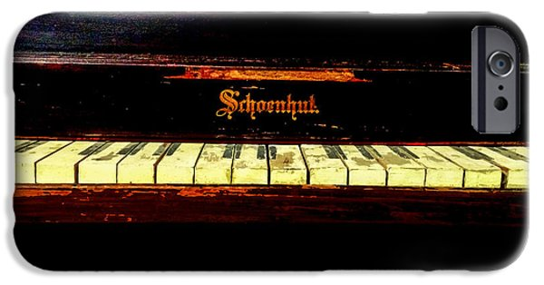 Piano iPhone Cases - The Old Toy Piano  iPhone Case by Steven  Digman