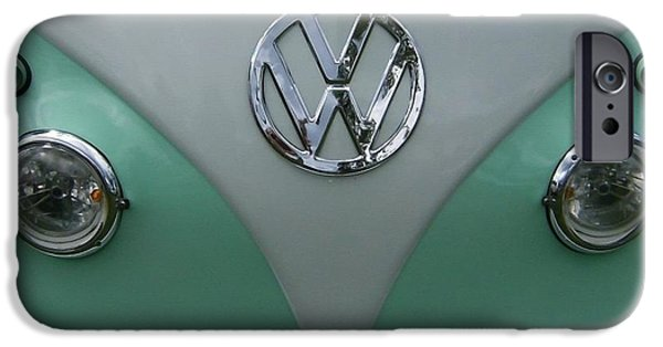 Automotive Pyrography iPhone Cases - the old Volkswagen Bus iPhone Case by Claude Prud