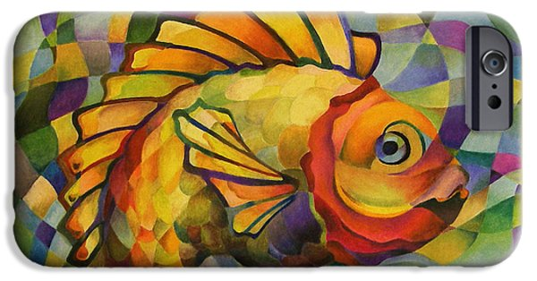 Mosaic Pastels iPhone Cases - The One That Got Away iPhone Case by Marilyn Callahan