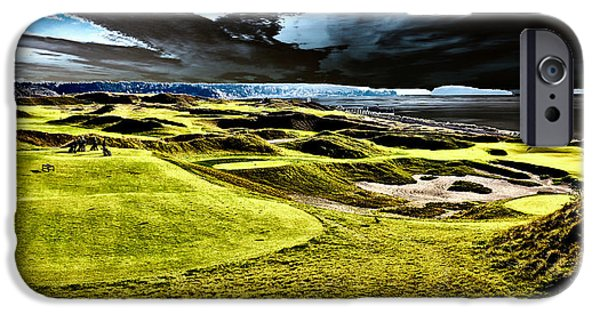 Us Open Photographs iPhone Cases - The Only Tree on the Chambers Bay Course - #15 iPhone Case by David Patterson
