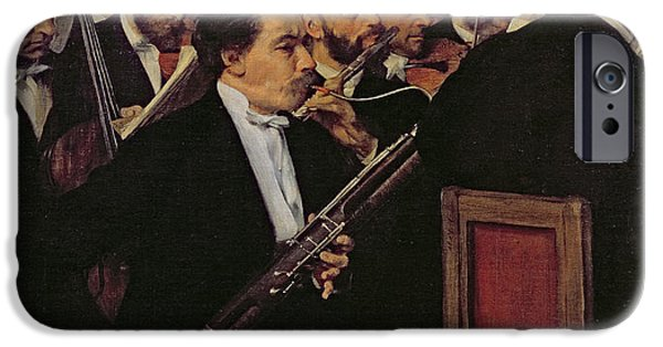 Ballet iPhone Cases - The Opera Orchestra iPhone Case by Edgar Degas