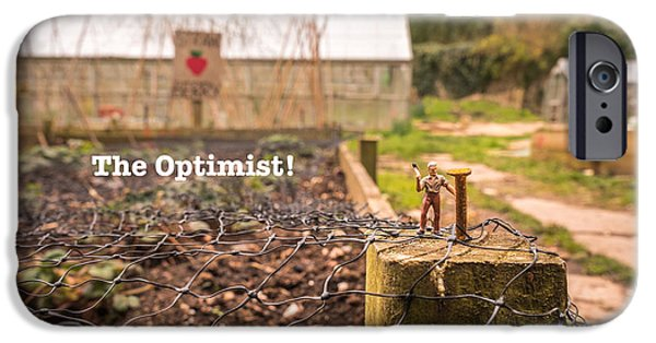 Recently Sold -  - Small iPhone Cases - The Optimist - with text iPhone Case by Sarah Savage