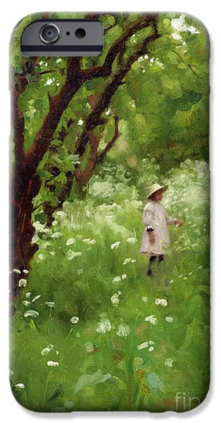 Apple Trees iPhone Cases - The Orchard  iPhone Case by Thomas Cooper Gotch