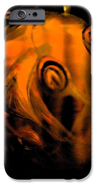 Abstract Digital Glass Art iPhone Cases - The Origins iPhone Case by Uleria Caramel