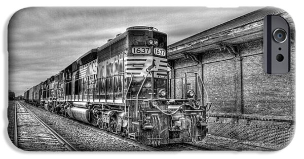 Animals Photographs iPhone Cases - The Other Iron Horse Locomotive 1637 Norfolk Southern iPhone Case by Reid Callaway