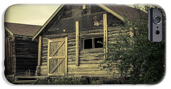 Shed Digital Art iPhone Cases - The Other Old Shed iPhone Case by Lisa Killins