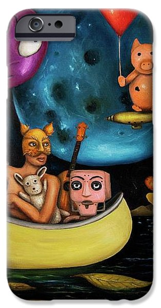 The Owl and the Pussycat in the Beginning iPhone Case by Leah Saulnier The Painting Maniac