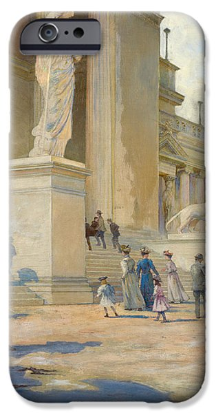Museum iPhone Cases - The Palace of Fine Arts  iPhone Case by Edwin Howland Blashfield