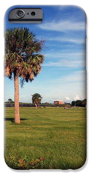 The Palmetto Tree iPhone Case by Susanne Van Hulst