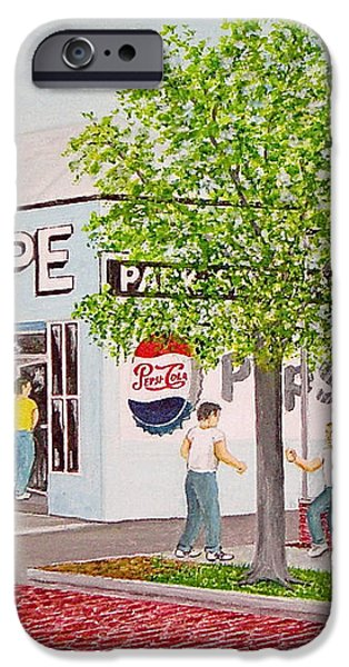 The Park Shoppe iPhone Case by Frank Hunter