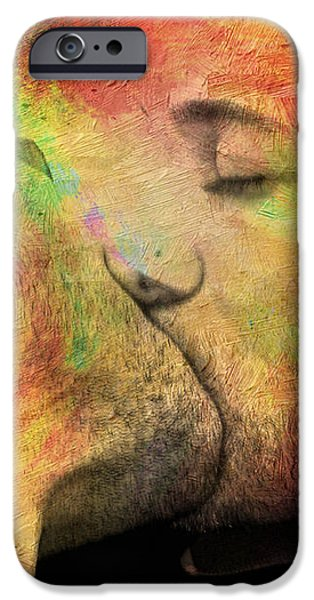 the passion of a kiss 1 iPhone Case by Mark Ashkenazi