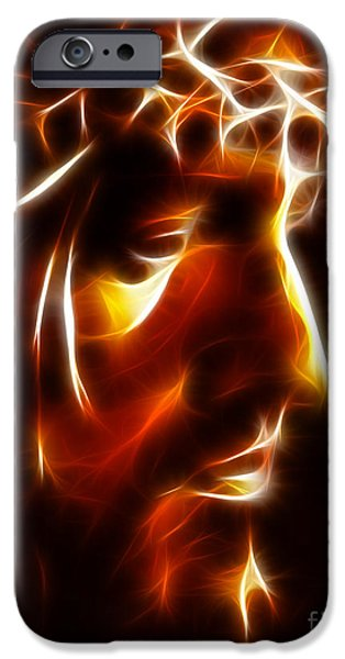 Jesus Face iPhone Cases - The Passion of Christ iPhone Case by Pamela Johnson