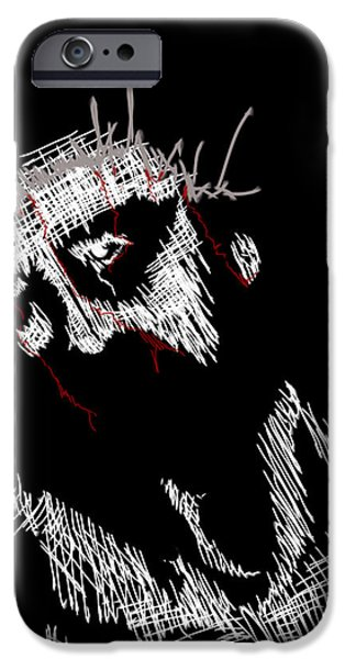 Jesus Drawings iPhone Cases - The Passion iPhone Case by Ryan Lundy