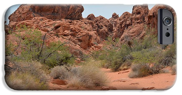 Red Rock Tapestries - Textiles iPhone Cases - The Path iPhone Case by Edna Weber