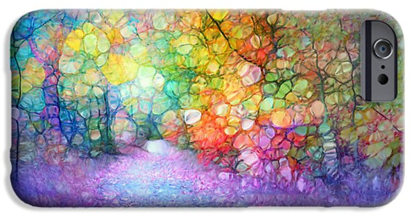 Nature Abstract iPhone Cases - The Path of Past Birthdays iPhone Case by Tara Turner