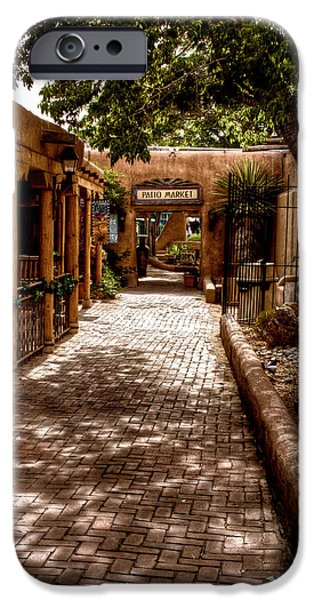 The Patio Market iPhone Case by David Patterson