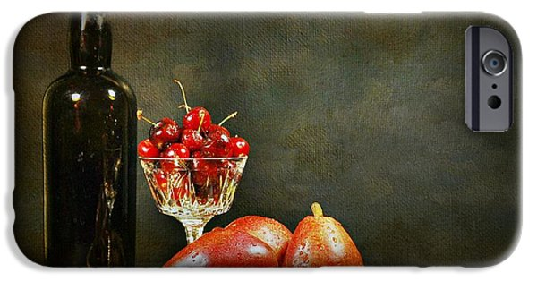 Wine Bottles iPhone Cases - The Pear Tray iPhone Case by Diana Angstadt