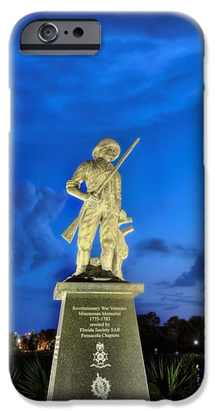 American Revolution iPhone Cases - The Pensacola Revolutionary War Memorial. iPhone Case by JC Findley