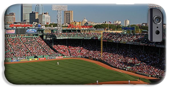 Recently Sold -  - Fenway Park iPhone Cases - The Pesky Pole iPhone Case by Juergen Roth