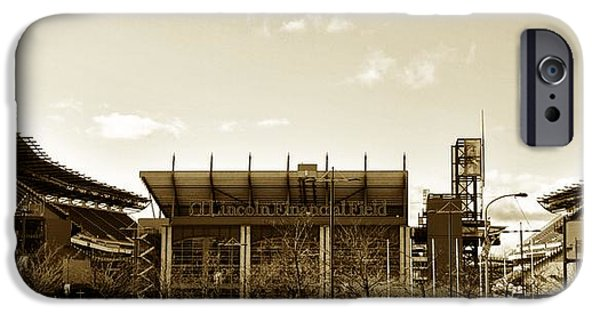 Philadelphia Phillies Stadium Digital iPhone Cases - The Philadelphia Eagles - Lincoln Financial Field iPhone Case by Bill Cannon