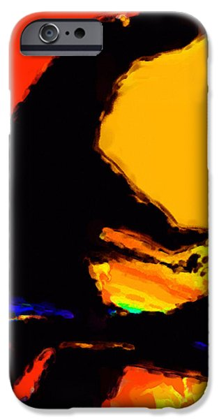 Abstract Digital iPhone Cases - The Pianist iPhone Case by Richard Rizzo