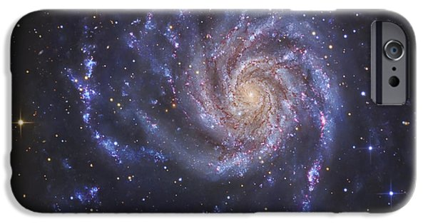 Constellations iPhone Cases - The Pinwheel Galaxy, Also Known As Ngc iPhone Case by R Jay GaBany