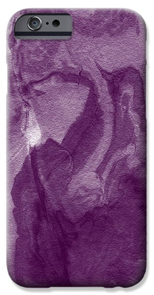 Marble iPhone Cases - The Place I Belong- Abstract Art By Linda Woods iPhone Case by Linda Woods
