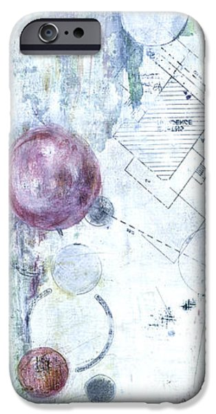 Buildings Mixed Media iPhone Cases - The Plans  iPhone Case by Barb Pearson